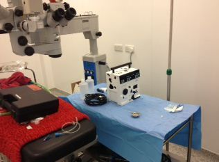 Cataract operating equipment